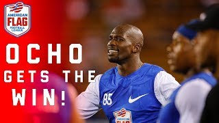 Chad Johnson leads team to win in Flag Football Semifinals | NFL