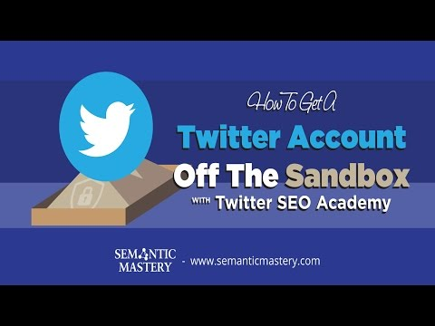 How To Get A Twitter Account Off The Sandbox With Twitter SEO Academy?