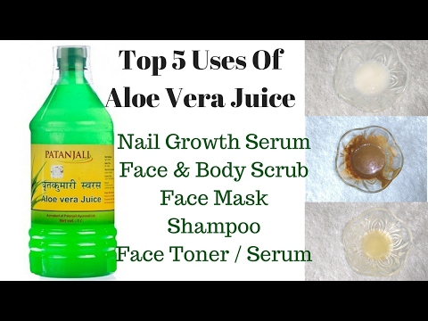 Top 5 Uses Of Patanjali Aloe Vera Juice Other Than Drinking | For Nails, Skin & Hair