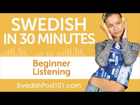 30 Minutes of Swedish Listening Comprehension for Beginner
