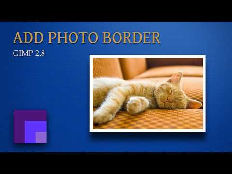 Gimp 2.8 - Creating Photo Borders to Frame an Image