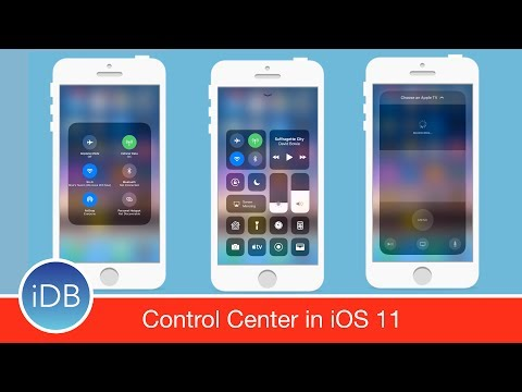 iOS 11 Control Center is Condensed, Customizable, & has New Controls