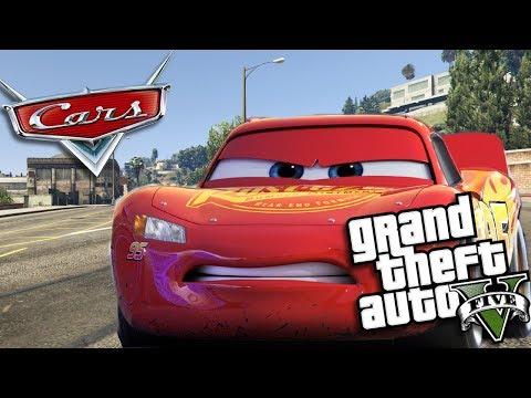 GTA 5 Mods - CARS 3 MOD w/ LIGHTNING MCQUEEN (GTA 5 Mods Gameplay)