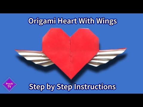 How to Make Paper Heart with Wings Instructions | easy origami