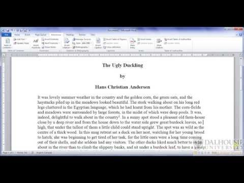 How to Use the Endnotes Section of Microsoft Office Word 2010