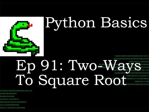 Python Basics Square Root