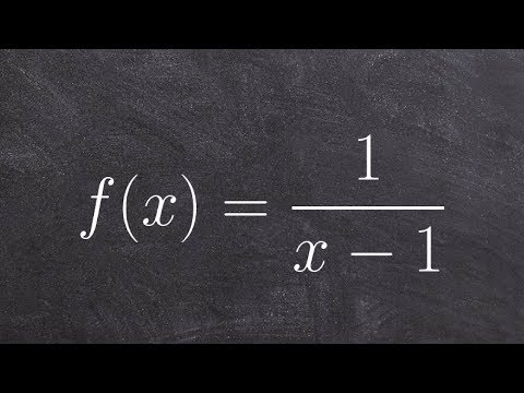 Pre-Calculus - Learn how to determine asymptotes and domain of a reciprocal function, f(x)=1/(x-1)