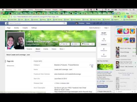 How-To Change Your Facebook Business Page Category