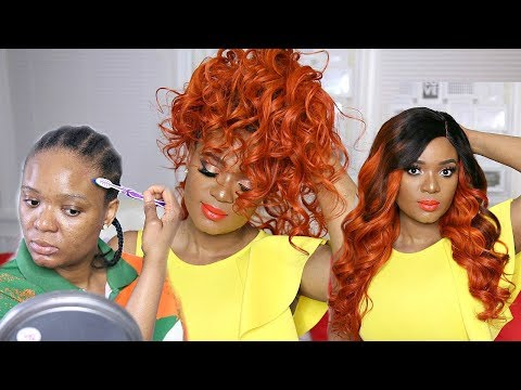 LETS SLAY A GINGER/ORANGE LACE FRONTAL WIG FROM START TO FINISH FT. HJWEAVEBEAUTY
