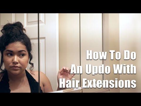 Short Hair Updo with Hair Extensions || The Savvy Beauty