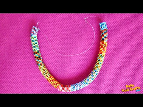 How to make a Paper Necklace? DIY