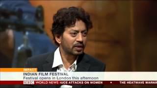 Bollywood Star Irrfan Khan on BBC World News
