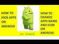 HOW TO CHANGE APPS NAME AND ICON AND HOW TO HIDE APPS ON ANDROID  IN TAMIL