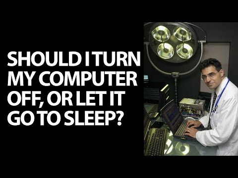 Should I power down my PC, leave it on, or put it to sleep?