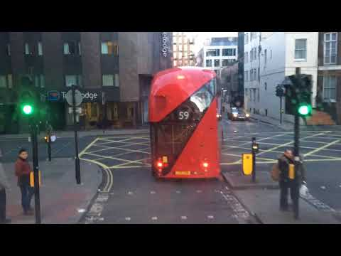 Timelapse on the TFL 205 Bus from Euston to Kings Cross