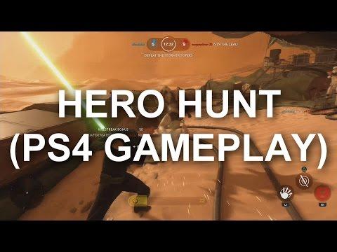Hero Hunt in Star Wars Battlefront (PS4 Gameplay)
