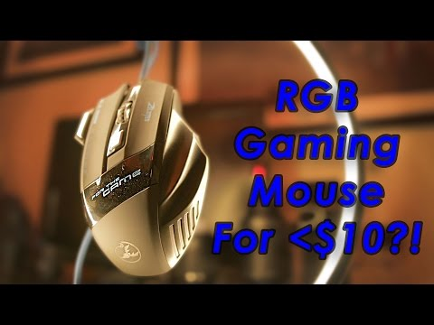 Under $10 Budget Gaming Mouse IN DEPTH REVIEW / Gaming Test. Zelotes 5500 DPI RGB LED Optical Mouse