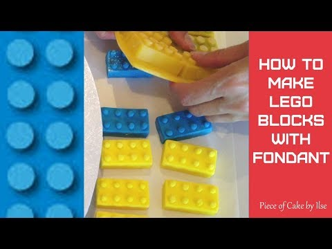 How to make Lego blocks with fondant by Piece of Cake by Ilse