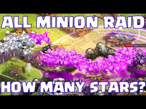 Clash Of Clans ALL MINIONS RAID   EPIC MINION ATTACK ANIMATION