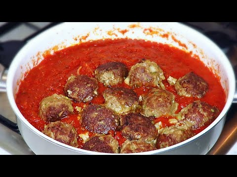 Authentic Italian sauce | Meatballs in tomato sauce from scratch | Very easy and simple!