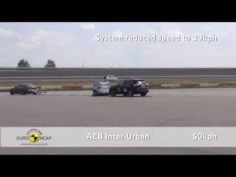 Euro NCAP AEB Test of Nissan X-Trail 2014