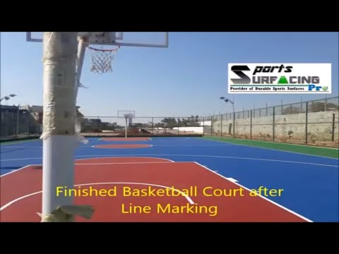 Acrylic Synthetic Basketball Court Flooring Installation Service Provider