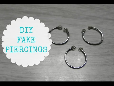 DIY Fake Piercings