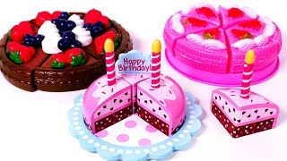 Chocolate Strawberry Cutting Cake Food Toys for Children