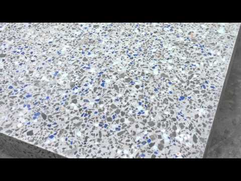 Polished Concrete Benchtops With Glass