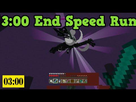 Minecraft Xbox 360 / PS3 - Ender Dragon Speed Run (3 Minutes)