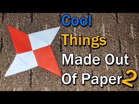 Cool Things Made Out Of Paper Compilation 2