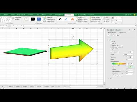 Excel Tutorial- How to Change Shape Color and Outline Color in Microsoft Excel 2017