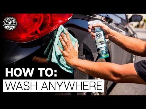 How To Wash Your Car Without A Garage! - No Hose Waterless Car Wash - Chemical Guys