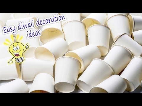 Very easy diwali decor idea using tea cups 2017 | Artkala 313