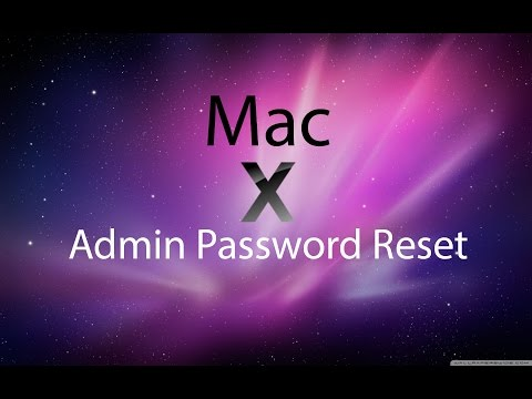 How to reset Admin password on Mac without disc