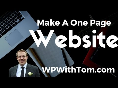 How To Make A One Page Website With WordPress