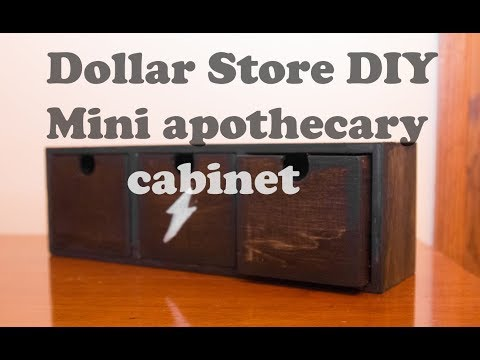 Dollar Store DIY Craft - Mini Apothecary Cabinet