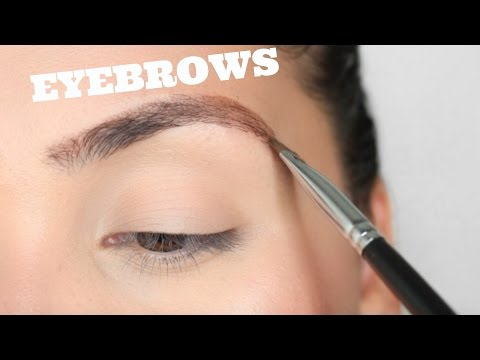 EASY EYEBROW TUTORIAL FOR BEGINNERS 2017   STEP BY STEP ROUTINE
