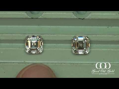 Asscher Comparison: 1.5xct E-F color VVS-VS clarity