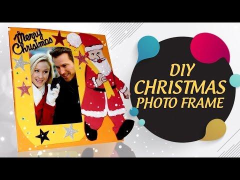 DIY Christmas Themed Photo frame | Easy To Make Photoframe-  Craft Basket