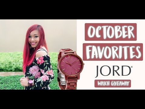 October Favorites ♡ | Shoes, Accessories & more! | JORD Watch GIVEAWAY + Promo Code Included