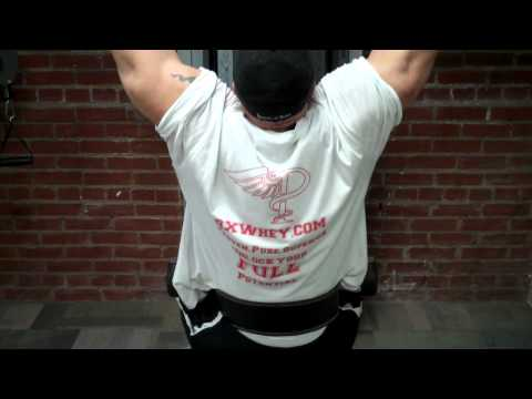 Chris250 single arm cable lat work