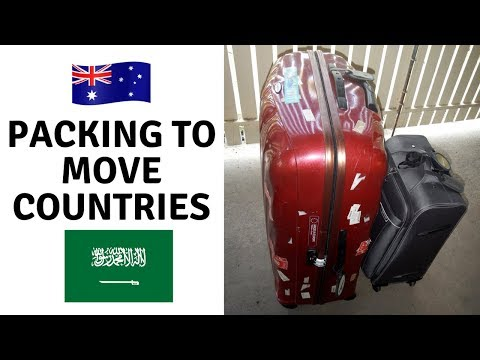Packing to leave Australia   moving abroad again