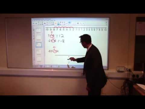 How to calculate with negative numbers
