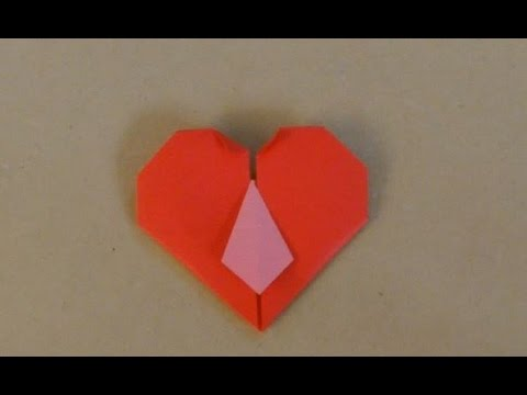 How To Make An Origami Tie Heart