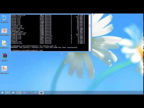 how to Kill Processes from Command Prompt