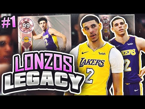 LONZOS LEGACY 2.0 #1 - PINK DIAMOND LONZO!! NBA 2K18 MYTEAM!