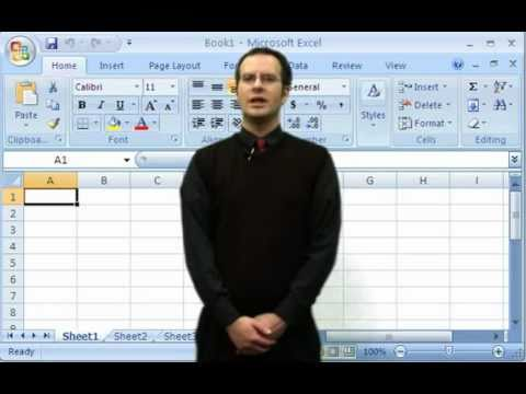 How to use the Average Function in Microsoft Excel 2007