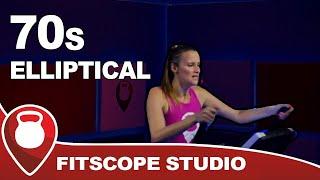 70s HIIT Elliptical Workout | Elliptical Machine Class to 70s Pop | Fitscope Studio