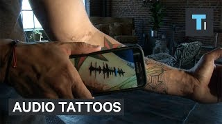 These tattoos hide audio messages in your skin